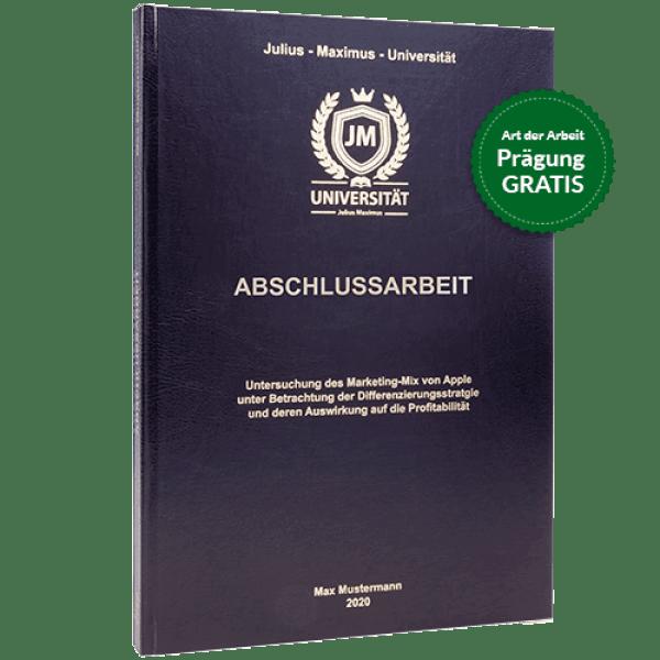Abschlussarbeit-binden-lassen-im-Standard-Hardcover schwarz