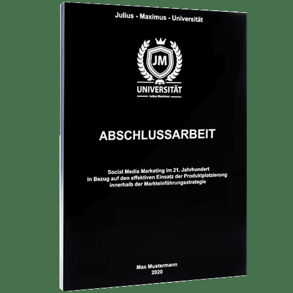 Abschlussarbeit binden mit der Magazinbindung schwarz