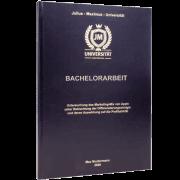 Bachelorarbeit binden lassen in Standard-Hardcover schwarz