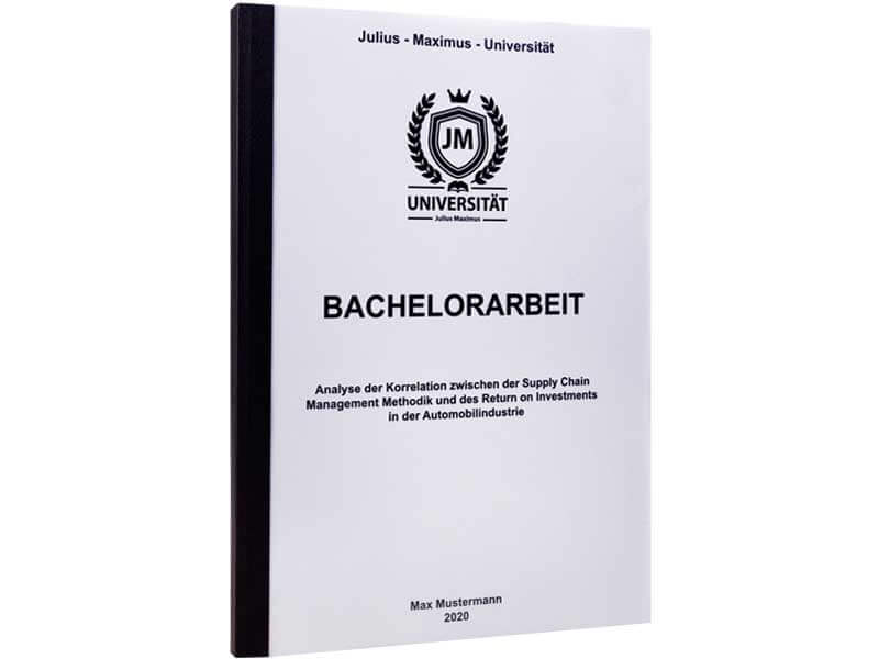 Bachelorarbeit drucken lassen in der Klebebindung schwarz