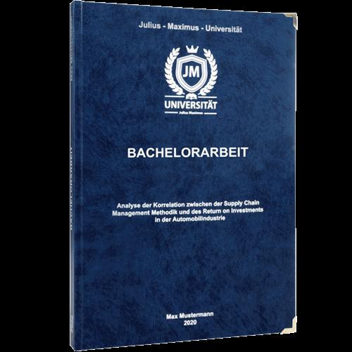 Bachelorarbeit drucken und binden mit Premium-Hardcover blau