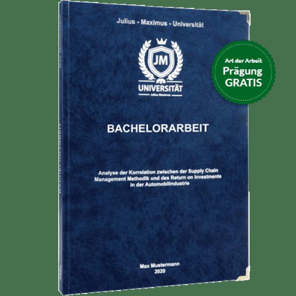 Bachelorarbeit drucken und binden mit dem Premium-Hardcover blau