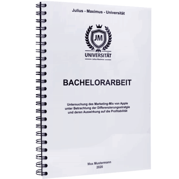 Bachelorarbeit drucken und binden mit der Spiralbindung Metall