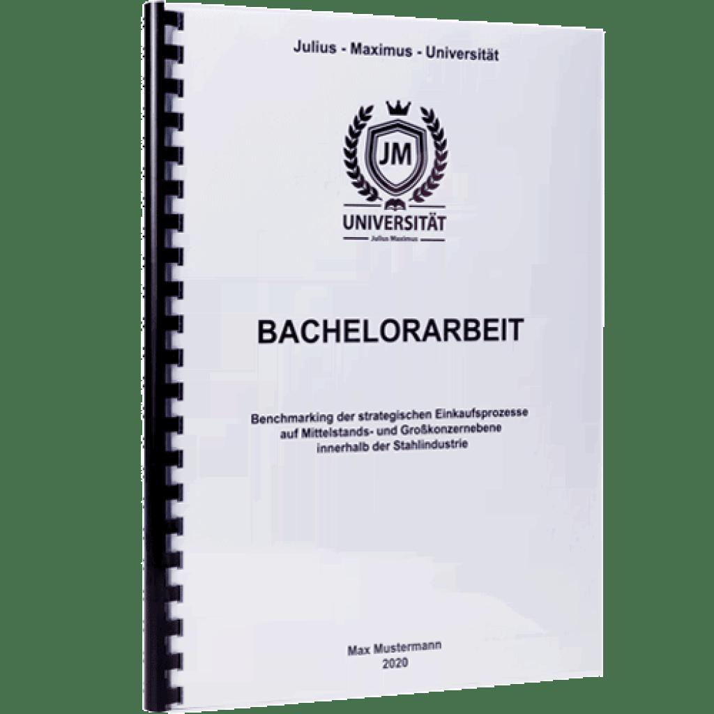 Bachelorarbeit drucken und binden mit der Spiralbindung Plastik