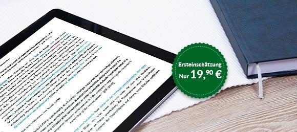 Der Korrektur-Schnell-Check gibt Nicht-Deutsch-Muttersprachlern eine Ersteinschätzung über das formelle und stilistische Niveau der Arbeit