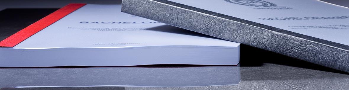 Die Klebebindung bzw. das Softcover für Ihre Studienarbeit