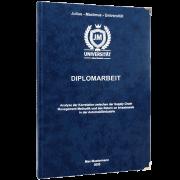 Diplomarbeit drucken und binden mit dem Premium Hardcover dunkelblau