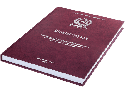 Dissertation drucken und binden lassen im Premium Hardcover bordeauxrot