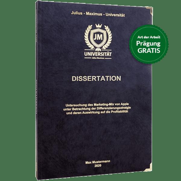 Dissertation drucken und binden mit dem Premium-Hardcover in Schwarz