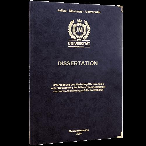 Dissertation drucken und binden mit dem Premium Hardcover schwarz