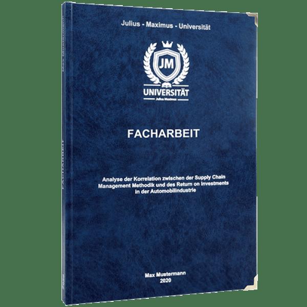 Facharbeit drucken und binden mit dem Premium Hardcover dunkelblau