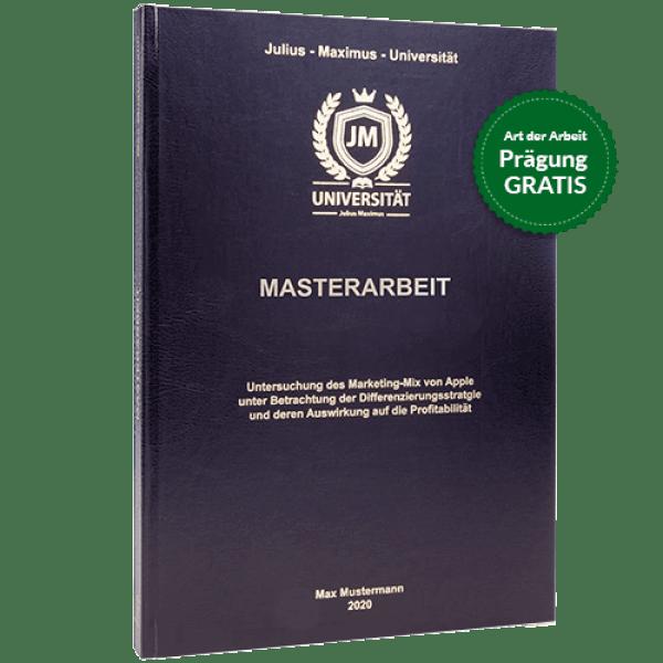 Masterarbeit binden lassen in Standard-Hardcover schwarz