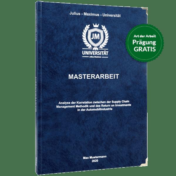 Masterarbeit drucken und binden mit dem Premium-Hardcover in dunkelblau