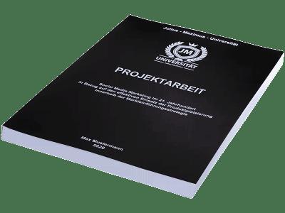 Projektarbeit drucken in der Magazinbindung schwarz