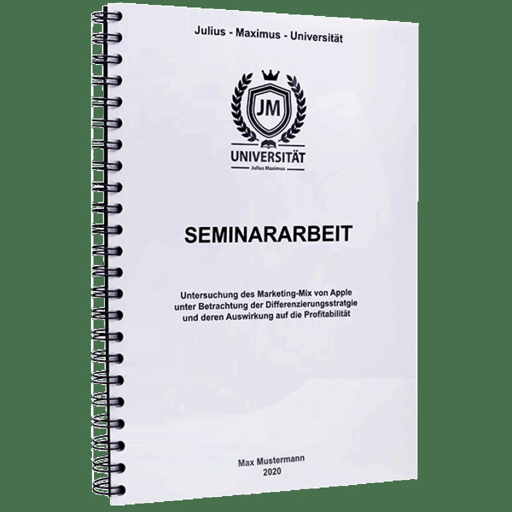 Seminararbeit binden lassen mit der Spiralbindung Metall