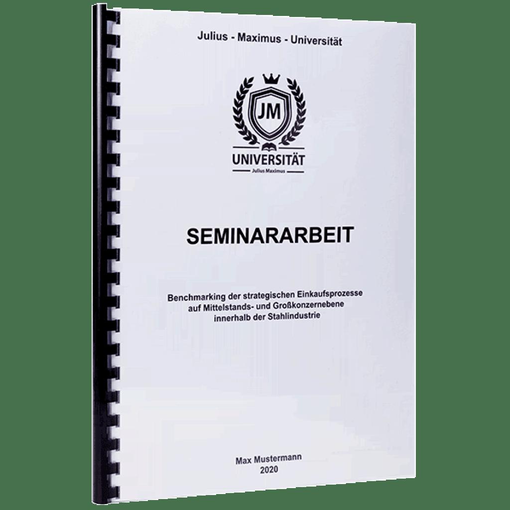 Seminararbeit binden lassen mit der Spiralbindung Plastik