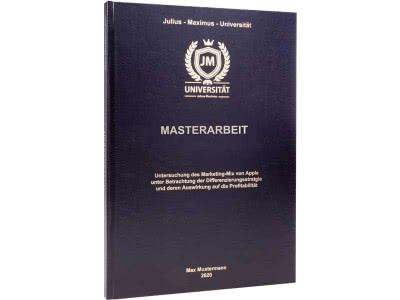 Masterarbeit drucken und binden lassen im Standard-Hardcover schwarz