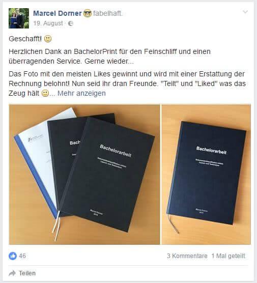 Kostenlos drucken der BA Marcel Dorner im August 2016