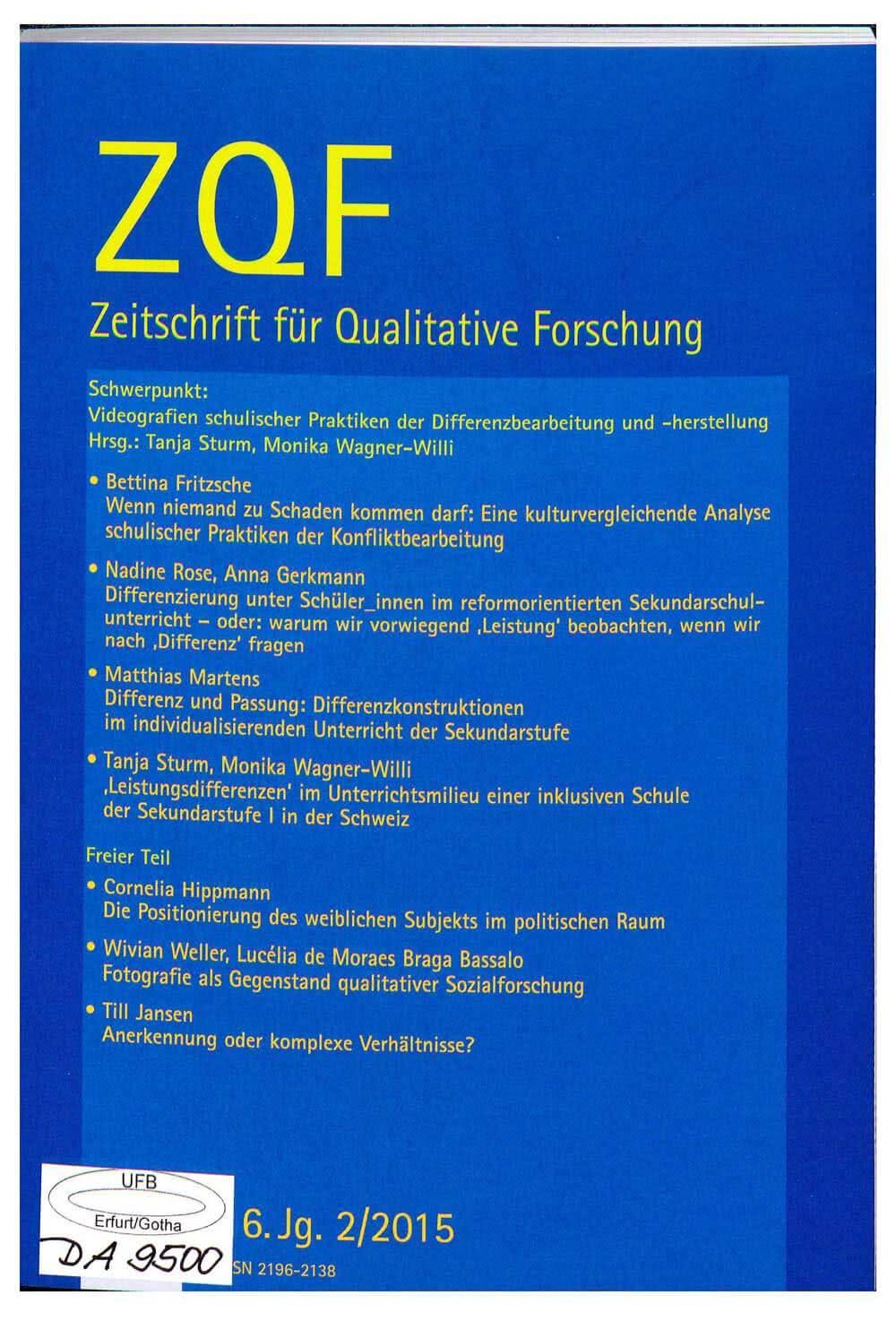 Informationen zur Quelle einer Zeitschrift bzw. Journal