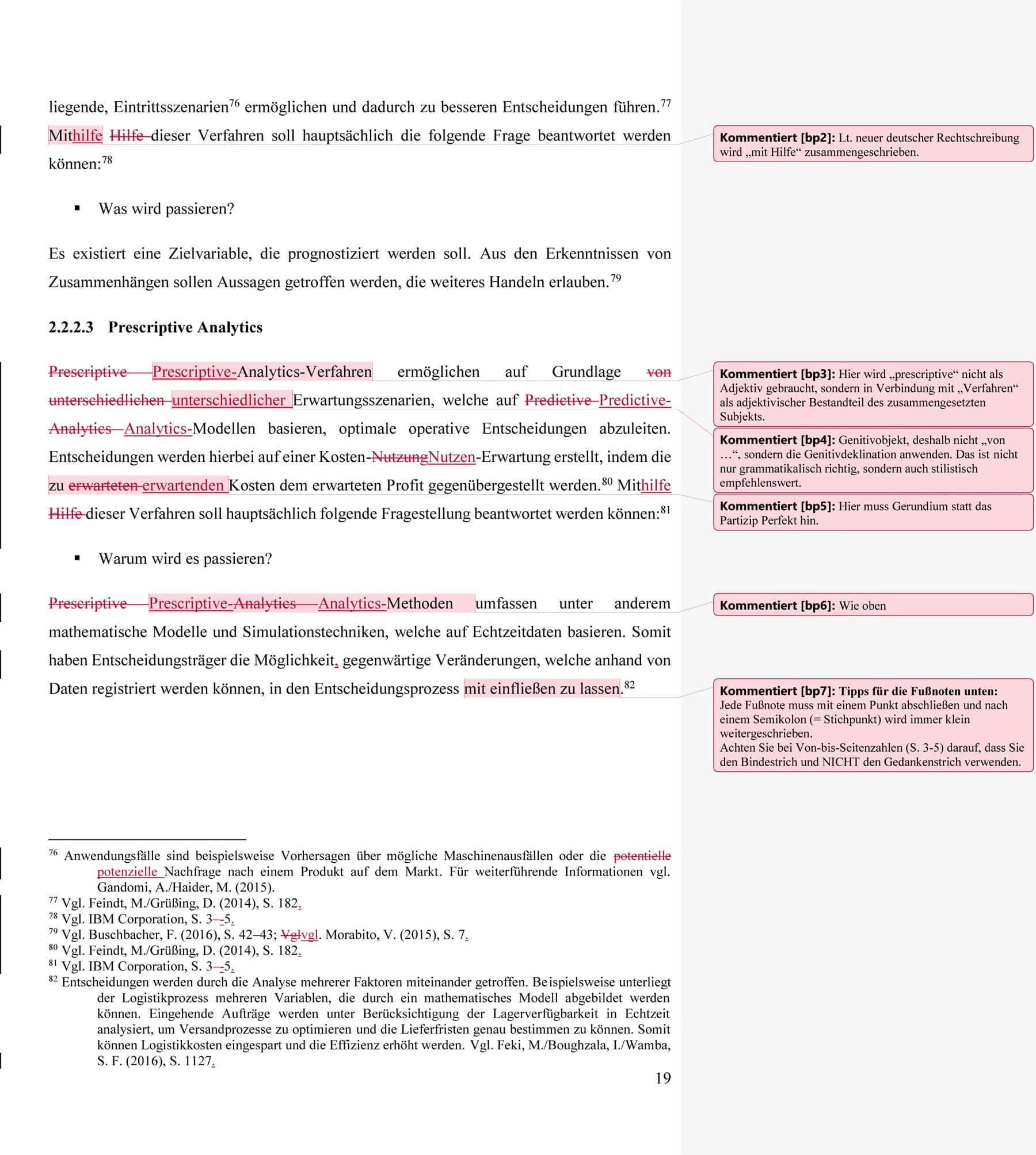 Gefundene Fehler durch die Formalkorrektur der Masterarbeit - Lektorat Erfahrungen Tomasz-Kragiel
