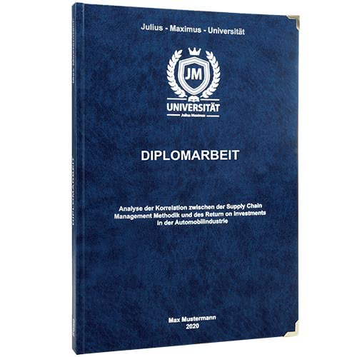 Diplomarbeit drucken_ Premium Hardcover dunkelblau