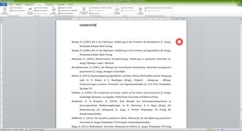 Fertiges Literaturverzeichnis in Word-1