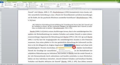 Kontextmenü öffnen für Kurzverweis-1
