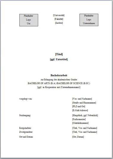 Vorlage Deckblatt Bachelorarbeit mit Logo-1