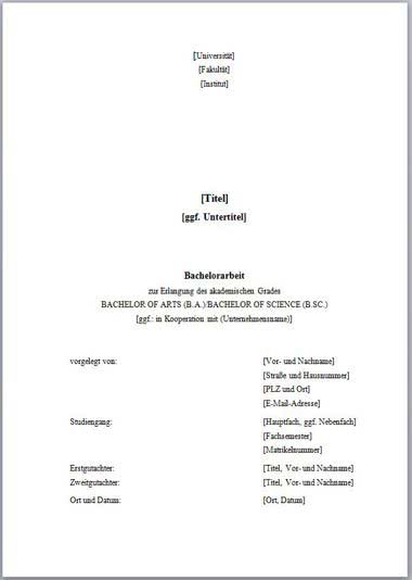 Vorlage Deckblatt Bachelorarbeit ohne Logo-1