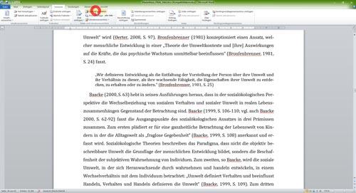 Zugriff auf lokale Literaturdatenbank für Quellennachweise in Word-1