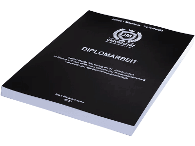 Diplomarbeit drucken in der Magazinbindung schwarz