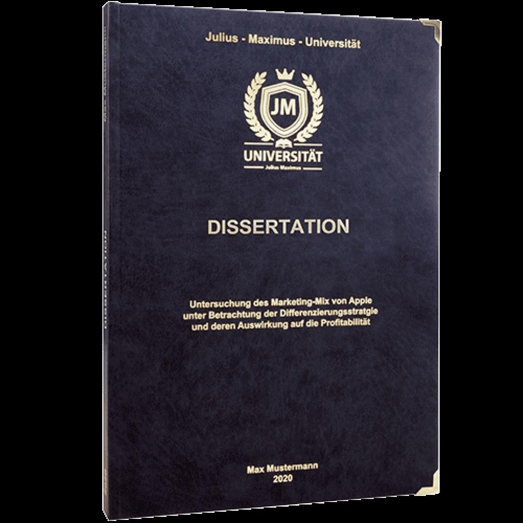 dissertation binden und drucken