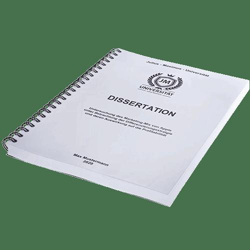 Dissertation drucken und binden wien