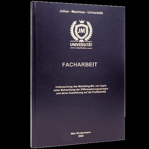 Facharbeit binden lassen im Standard Hardcover