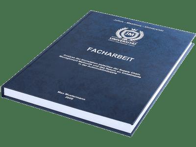 Facharbeit drucken und binden lassen im Premium Hardcover dunkelblau
