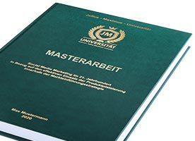 Masterarbeit Hardcover-Bindung grün