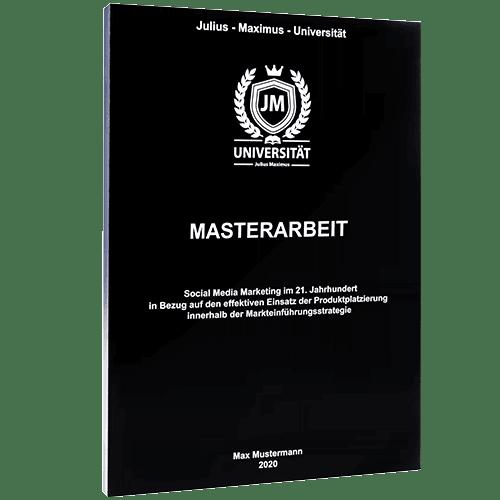 Masterarbeit binden mit der Magazinbindung schwarz