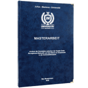 Masterarbeit drucken und binden mit dem Premium Hardcover dunkelblau