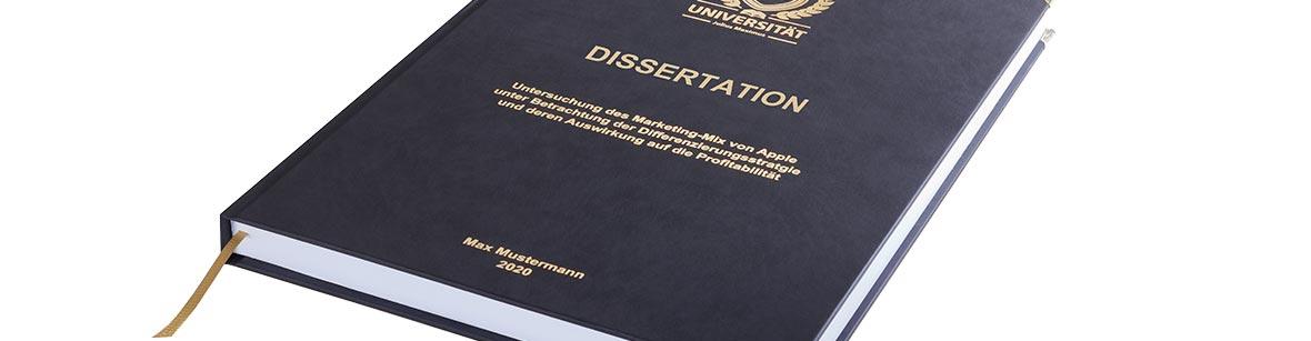 Premium Hardcover-Bindung in Schwarz für Studienarbeiten