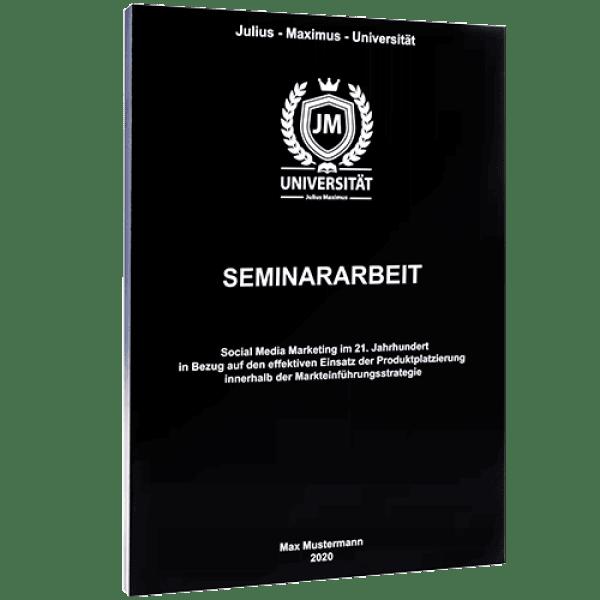 Seminararbeit  binden mit der Magazinbindung schwarz