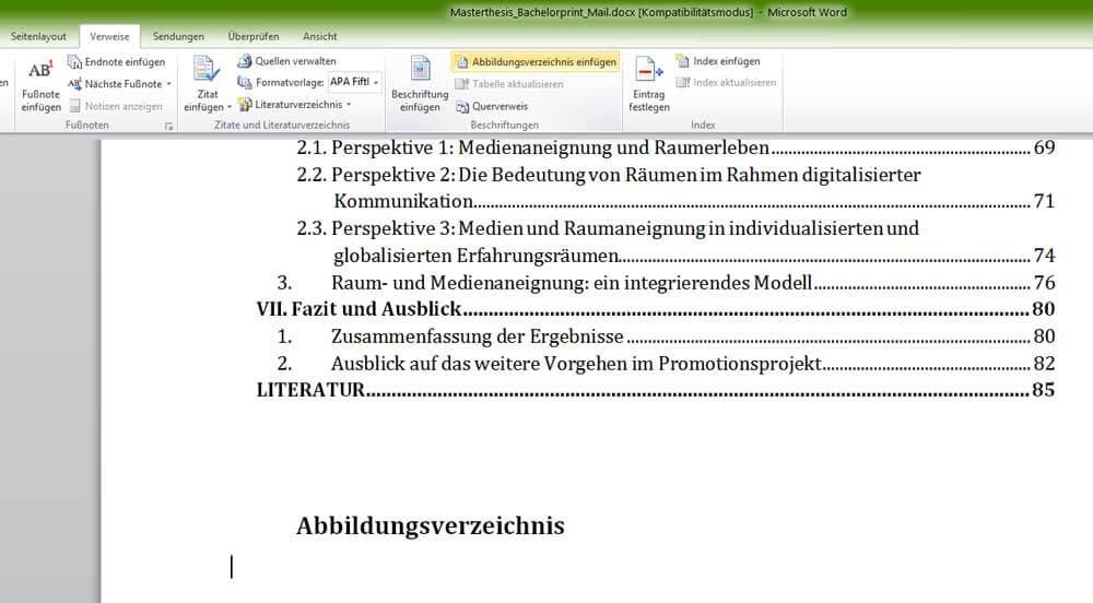 Abbildungsverzeichnis In Word Erstellen Video Tutorial