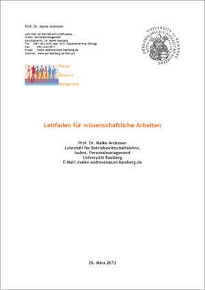 Universität Bamberg-Leitfaden zur Gestaltung wissenschaftlicher Arbeiten mit Abbildungsverzeichnis