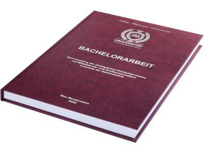 Bachelorarbeit drucken und binden lassen im Premium Hardcover bordeauxrot