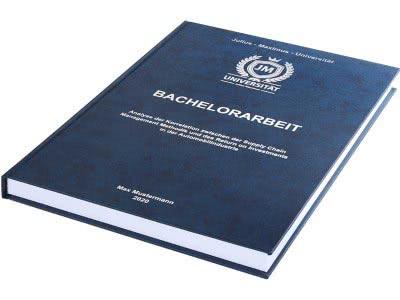 Bachelorarbeit drucken und binden lassen im Premium Hardcover dunkelblau