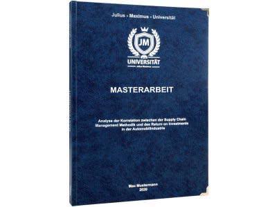 Masterarbeit drucken und binden lassen im Premium Hardcover dunkelblau