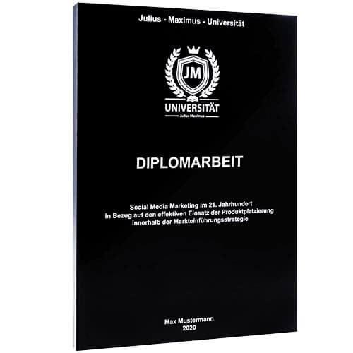 Diplomarbeit drucken mit der Magazinbindung schwarz
