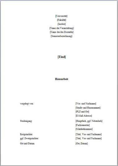 Muster 1_Deckblatt Hausarbeit-1