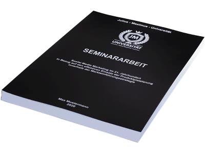 Seminararbeit drucken - Magazinbindung schwarz