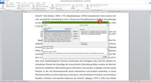 Verwaltung von Quellen in Word-1