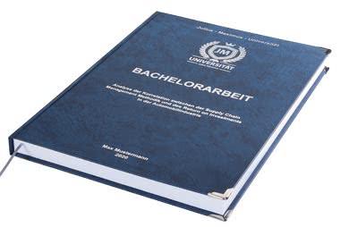 Bachelorarbeit drucken und binden lassen